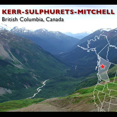 Graphic for the KSM Seabridge Project, showing a mountain view.