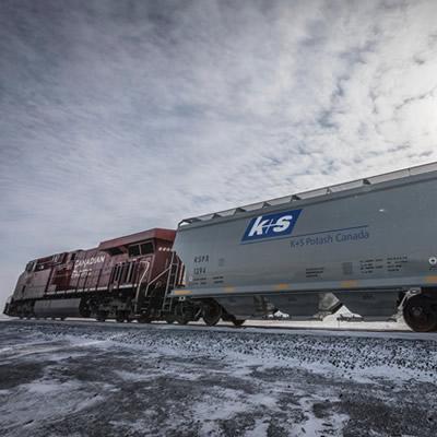 K+S Potash rail cars.