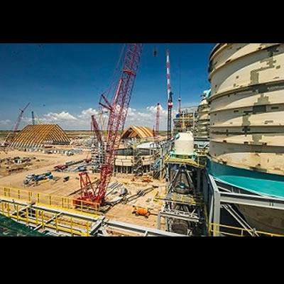 Picture of construction at K+S Potash Canada site.