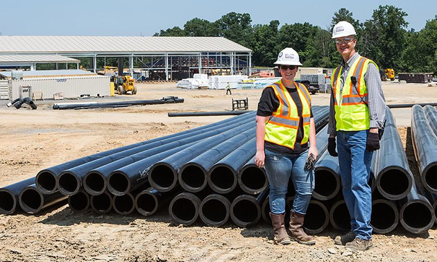 Karla Mills (left), one of the new VP appointments, is responsible for the successful delivery of capital projects across Teck's base metals and steelmaking coal business units