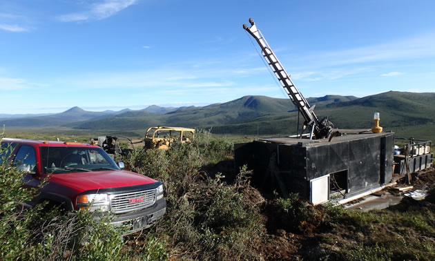 Drilling at the Klaza Project in the Yukon.