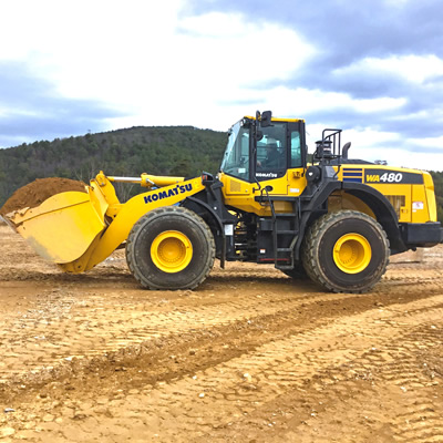 SMS Equipment now sells and supports the Komatsu Tier 4 Final WA480-8.