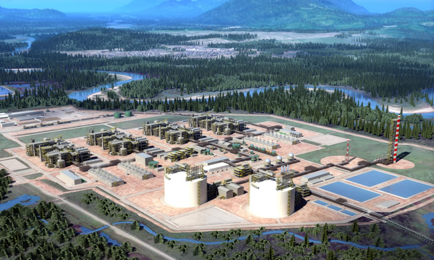 LNG Export Facility Rendering.