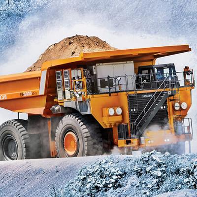 Large mining truck.