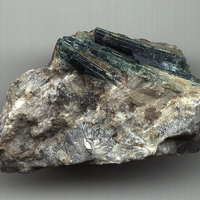 A rock sample containing lithium.