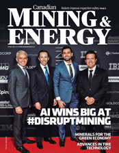 Canadian Mining & Energy Spring 2019 magazine cover