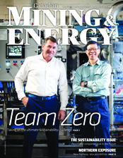Canadian Mining & Energy Winter 2017/18 magazine cover