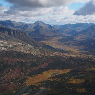 Aerial view of the Macmillan Pass Project.