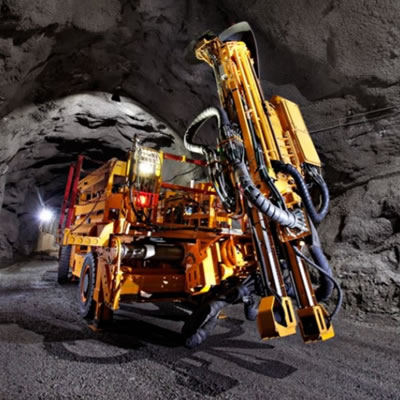 Heavy-duty mining equipment.