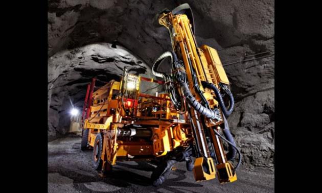 Heavy-duty mining equipment.