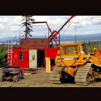 Group of mining equipment.