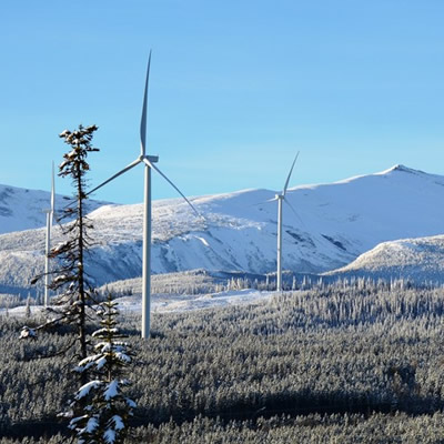 Pattern Development's Meikle Wind Power Facility in British Columbia.