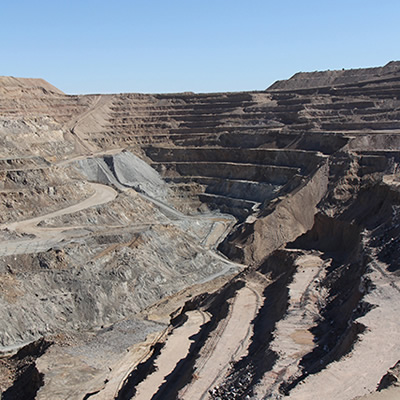 The Mesquite Gold Mine.