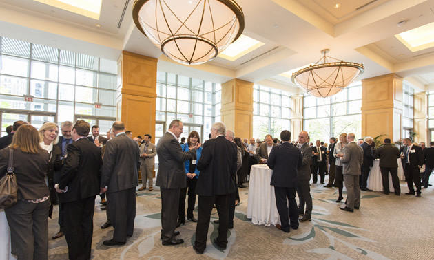 A formal party shows the people at the Annual Spring Fling, one of three major networking events for members of  MSABC.