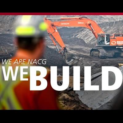 NACG 'We Build' graphic ad.