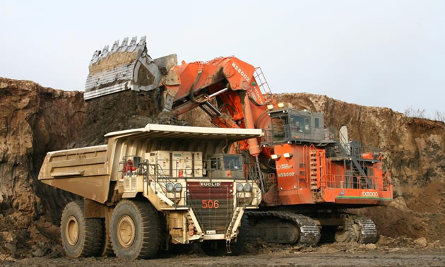 Heavy construction and mining equipment.
