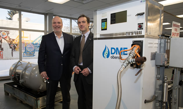 NAIT is currently working on Phase 1 of the applied research project to test DME in long-haul trucks in Alberta.