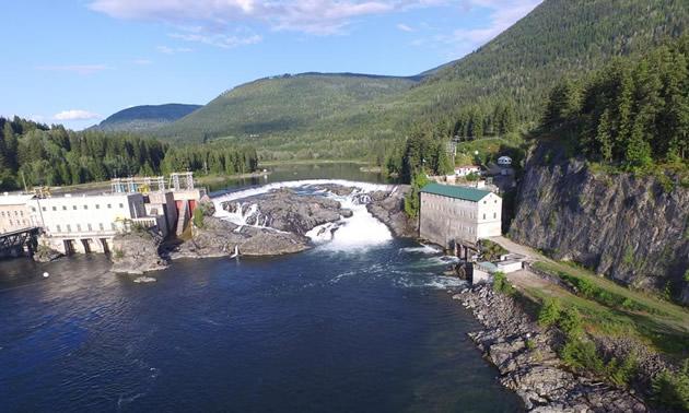 The Nelson Hydro dam.