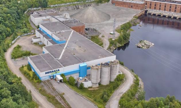 An aerial view of the Nemaska Lithium facility.