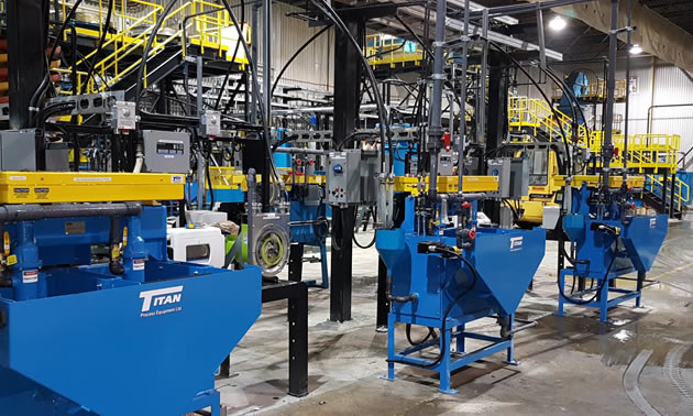 The demonstration plant at Nouveau Monde Graphite, located in Quebec.