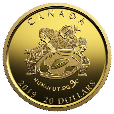 Nunavut collector coin showing drummer design.