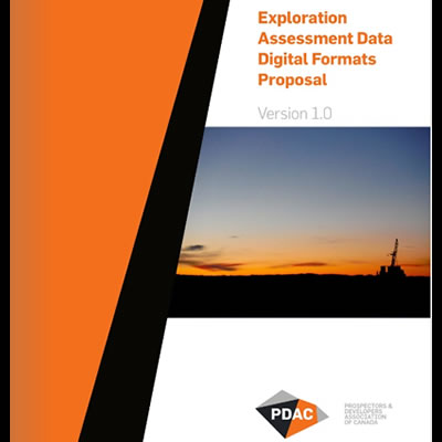 Cover of the Exploration Assessment Digital Data Formats guidelines.
