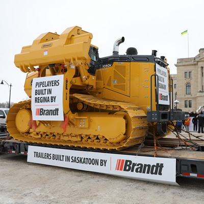 Brandt's BPL220K on site at Rally in Regina for Canadian Resources.