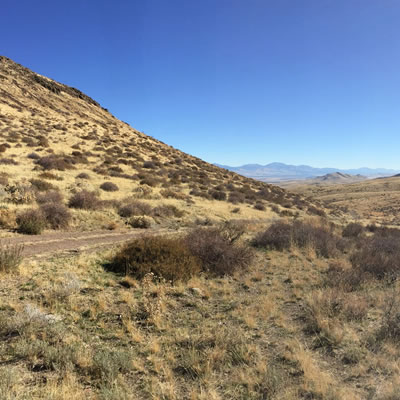 The Pony Creek gold property, located souh of Elko, Nevada.