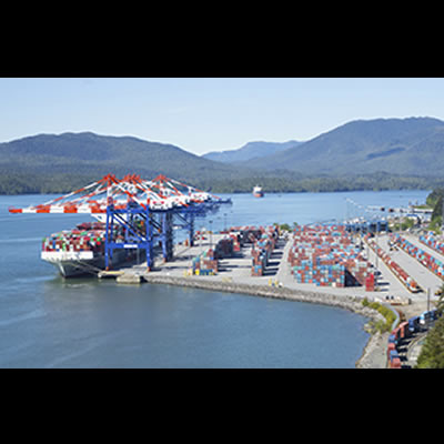 The DP World Prince Rupert Fairview Container Terminal.