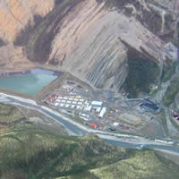This photo shows Canadian Zinc's Prairie Creek Mine site in the Northwest Territories.