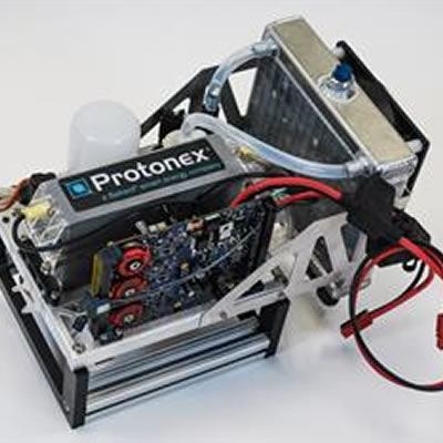 A photo showing a Protonex battery system.
