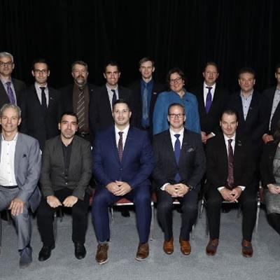 Members of the 2017–2018 QMEA board of directors.