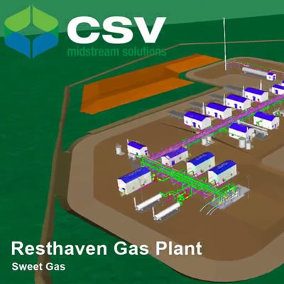 Graphic of Resthaven Gas Plant.