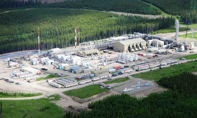 Aerial view of the Resthaven natural gas plant.