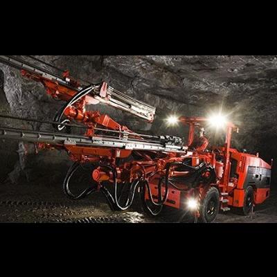 An underground drill rig.