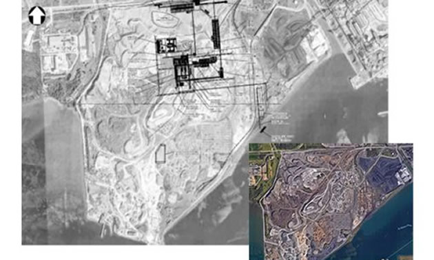 Aerial view of the Sault Ste. Marie site.