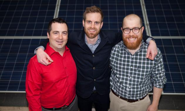 Pictured left to right: Joe Bacsu, Lliam Hildebrand, Adam Cormier.