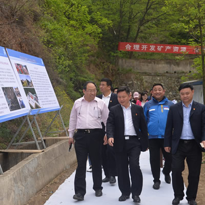 Journalists, Henan provincial and county leaders on tour of Ying Mining District accompanied by Silvercorp management team.