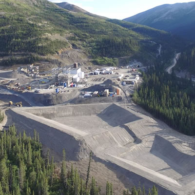 Aerial view of the Silvertip Mine, located in northern British Columbia.