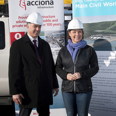 Premier Christy Clark and BC Hydro announced the preferred proponent for Site C's main civil works contract, which will see 1,500 jobs created during peak construction.