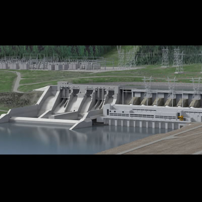 Graphic rendering of the Site C Project.