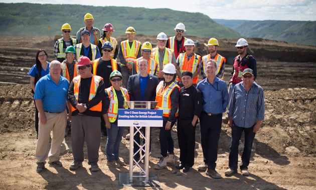 Picture of workers at BC Hydro Site C.