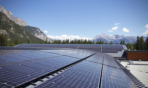Banff Fenlands recreation centre is one notable SkyFire Energy solar installation.