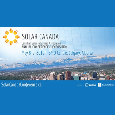 The Solar Canada Annual Conference and Exhibition, held May 8-9, 2019 in Calgary, Alberta is a must-attend event for solar energy professionals, stakeholders and advocates.