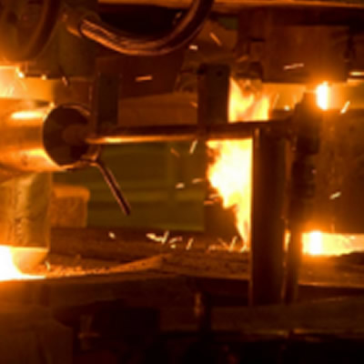 Close-up of steel smelting.