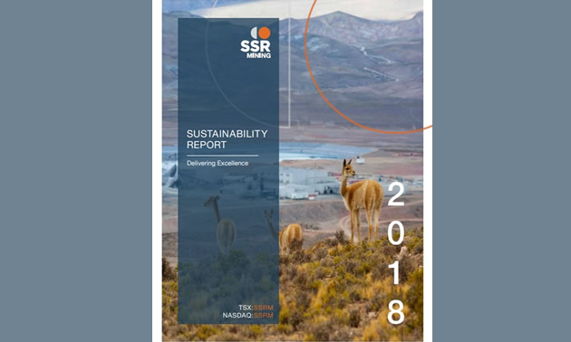 Cover of SSR Mining Inc.'s Sustainability Report.