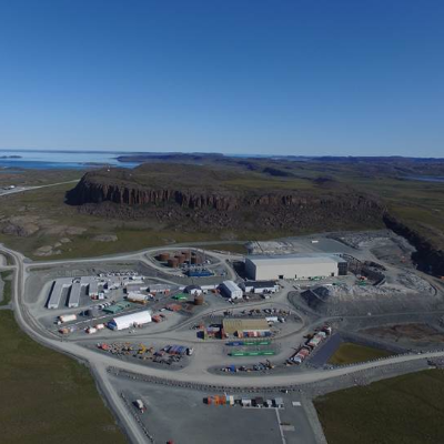 The Hope Bay Project mine site is currently under construction in Nunavut.