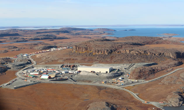 Aerial view of the Madrid-Boston Project at Hope Bay, Nunavut.