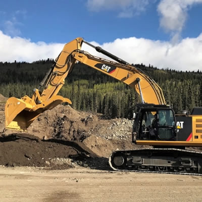 TNDC's new Caterpillar CAT 349F hydraulic excavator