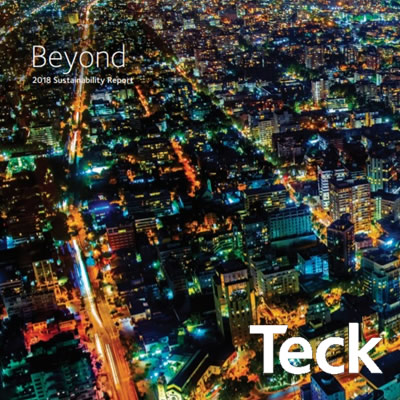 Cover of Teck's Sustainability Report.